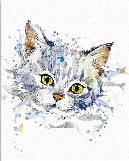 9fd2232505af7 Amazon.com: 7Dots Art. Baby Animals. Watercolor Art Print, Poster 8 ...