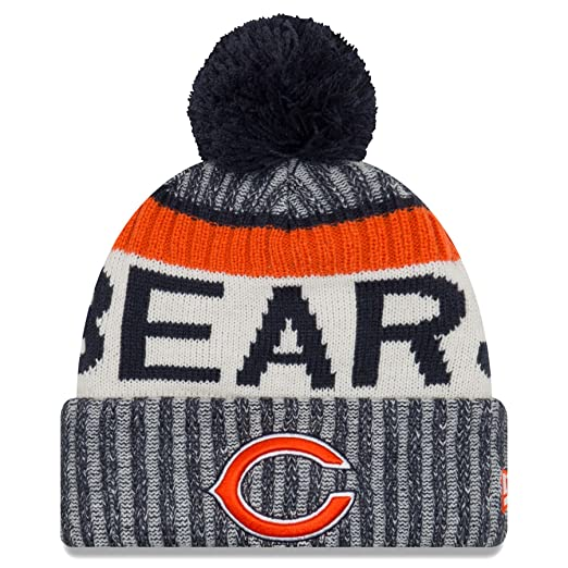 New Era Chicago Bears Knit Beanie Cap Hat NFL 2017 On Field Sideline  11460404 d74cd1c66d6