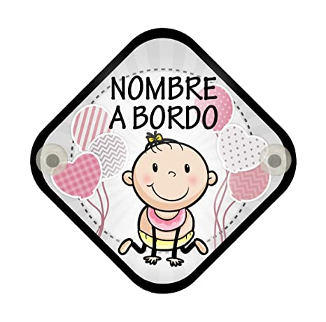 Cartel madera Bebé a bordo con nombre personalizado. ENVIAR MENSAJE CON EL NOMBRE que quieren que aparezca. También disponible para niño.