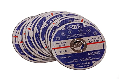 top quality excellent quality recognized brands 10 Stainless Steel Cutting Discs For Cut-Off/Angle Grinder ...