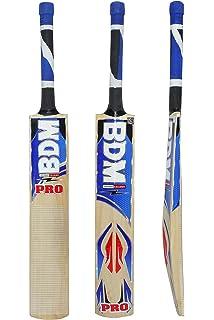 BDM Pro Multi - Piece Cane Handle Kashmir Willow Wood Cricket Bat Carry Case Adult Size