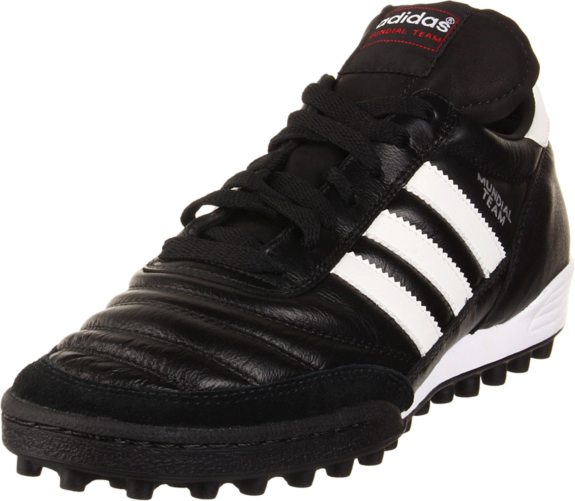 adidas Performance Men's MUNDIAL TEAM Athletic Shoe, black/white/red, 8.5 M US