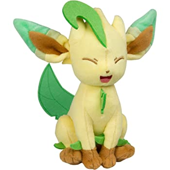 TOMY Pokemon Plush Figure Leafeon 20 cm Peluches
