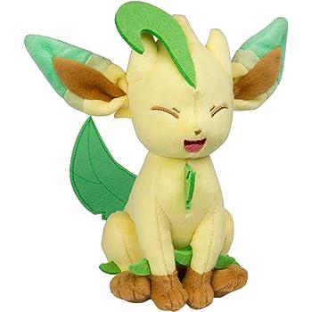 TOMY Pokemon Plush Figure Leafeon 20 cm Peluches