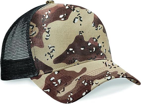 Arctic Jungle or Midnight Camo Meshback Snapback Trucker Cap Cotton Baseball Hat