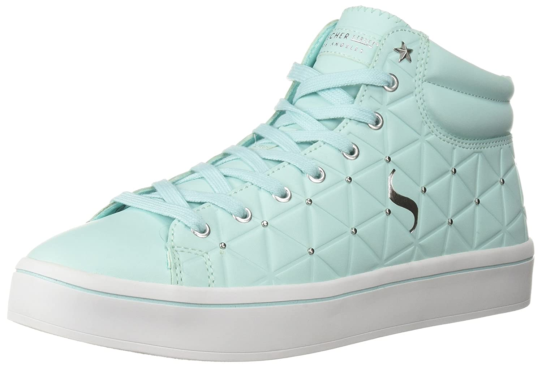 Skechers Women's Hi-Lite-Triangle De-Boss Sneaker B0741R8LZT 8.5 B(M) US|Aqua