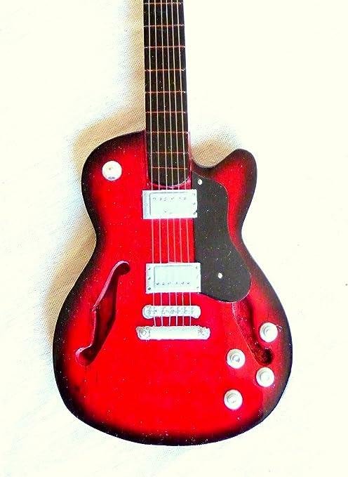Guitarra en miniatura decorativa Guitarra Guitar Gibson verde 24 ...