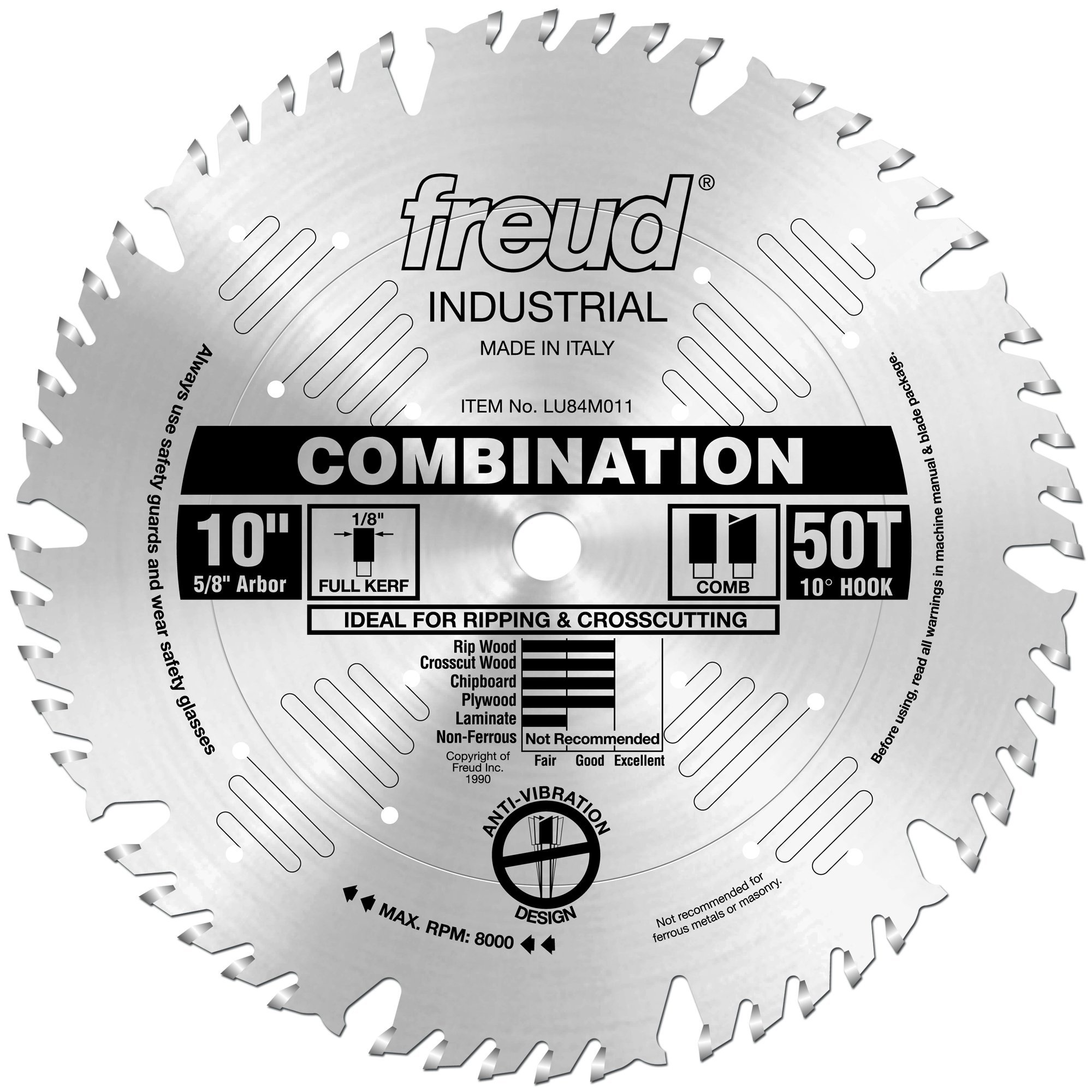 Disco Sierra FREUD Combinación 10 x 50T (LU84M011)