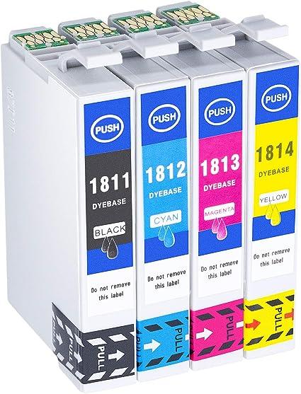 Hehua 18XL Compatible Cartuchos de Tinta para Epson 18 18XL ...