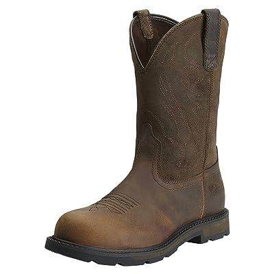 ARIAT Men's Groundbreaker Pull-on Steel Toe Work Boot | Industrial & Construction Boots