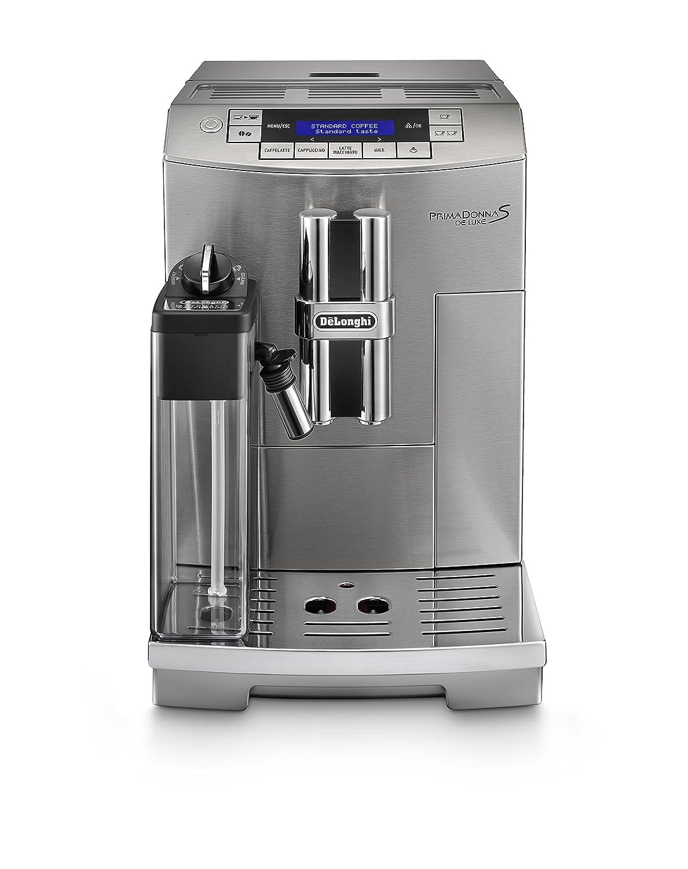 DeLonghi ECAM 28.465.M Cafetera semi-automática, 1450 W, 220-240 V, 15 bares, 2 tazas, plástico, gris