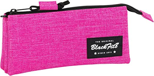 Blackfit8-Blackfit Blackfit8-Estuche portatodo Triple, 841732744, Color Rosa, 22 cm (SAFTA: Amazon.es: Juguetes y juegos