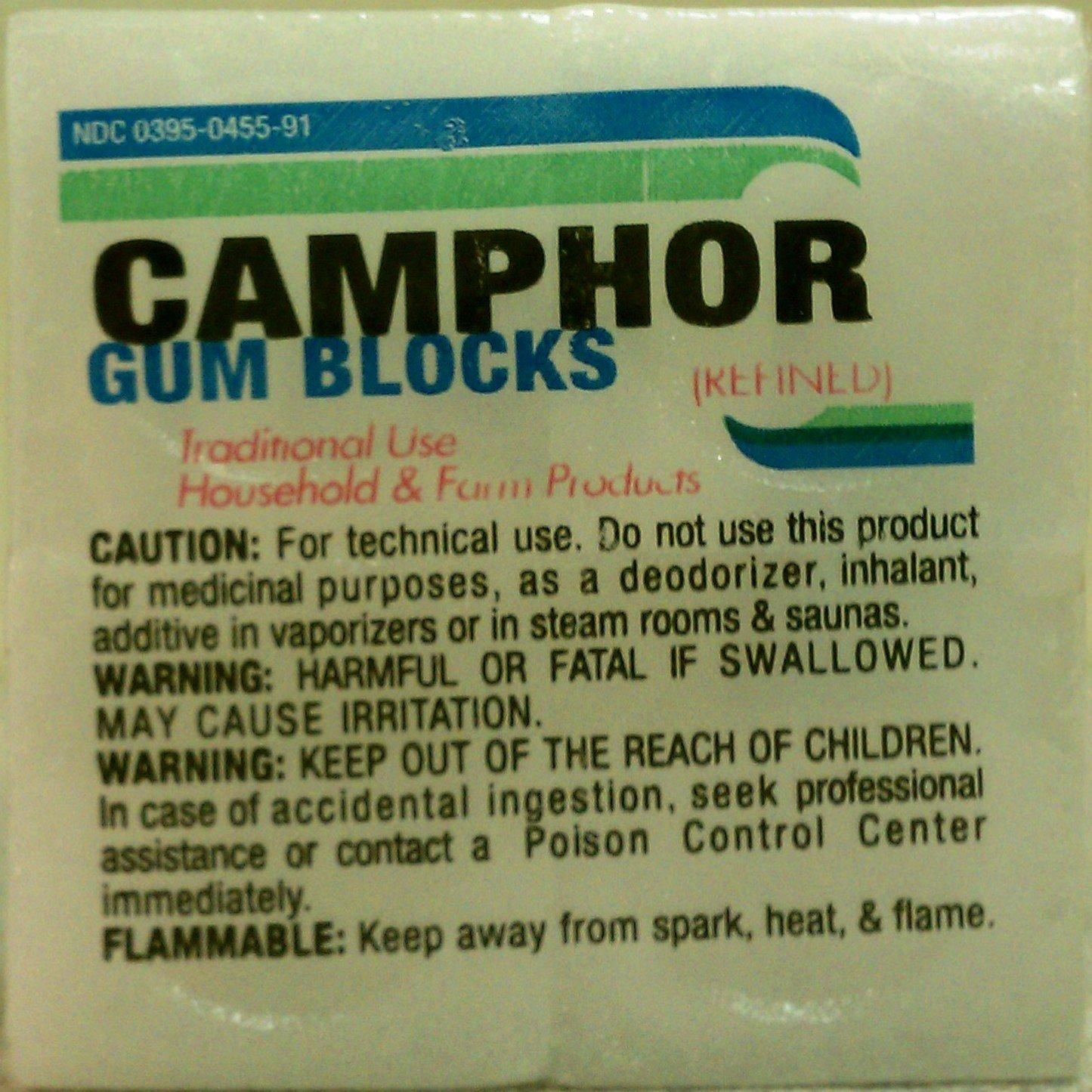 Camphor Gum Blocks 1oz block by Humco