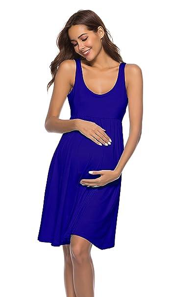 ff940321a Cityoung Vestido Corto para Mujer sin Mangas de Maternidad