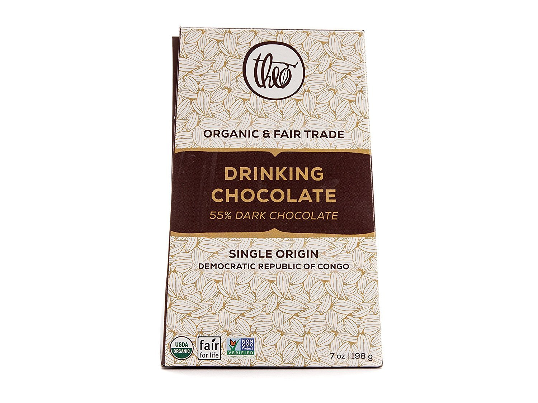 Theo Chocolate Dark Drinking Chocolate, 7 oz