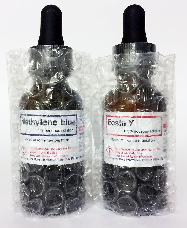 916ab9e4a 5 BIOLOGIC Vital manchas Kit - 30 ml (1 oz) Metileno azul, eosina y,  Bismarck marrón y, Janus verde B y neutral rojo soluciones en cuentagotas  botellas de ...