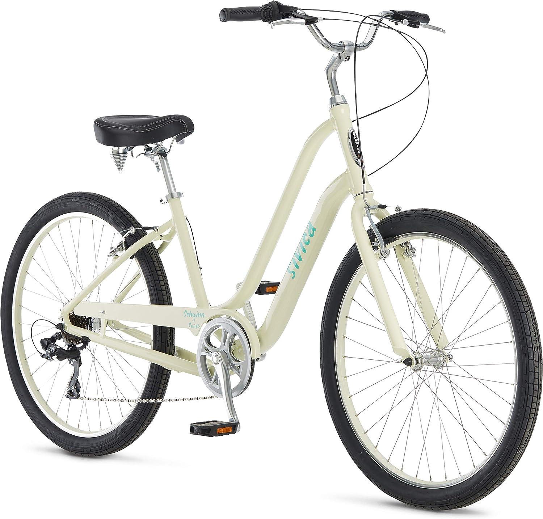 Schwinn Sivica 7 Comfort Cruiser Bike, 7-Speed Shimano Drivetrain, 26-Inch Wheels, Aluminum Step-Over Frame