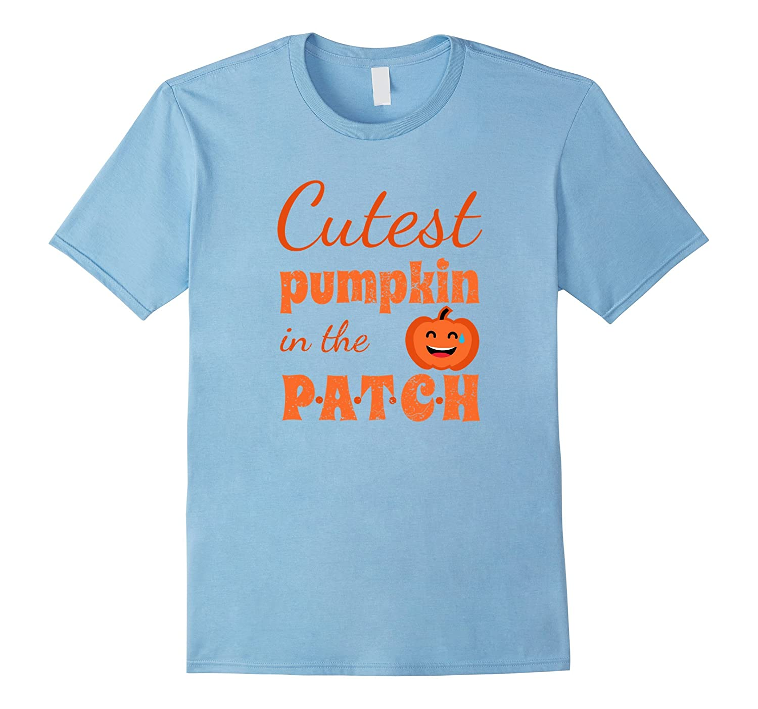 Cutest Pumpkin In The Patch Halloween T-Shirt Funny For Kids-T-Shirt