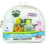 Johnson's & Johnson's Baby 5-Piece Travel Size Kit includes Changing Pads, Baby Powder, Lotion, Shampoo & Baby Wash (TSA Compliant)