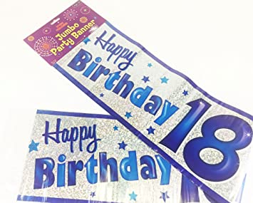Happy 18th Birthday Party Giant Wall Banner 3 Banners Age 18 Decoration By Simon Elvin Amazonde Spielzeug