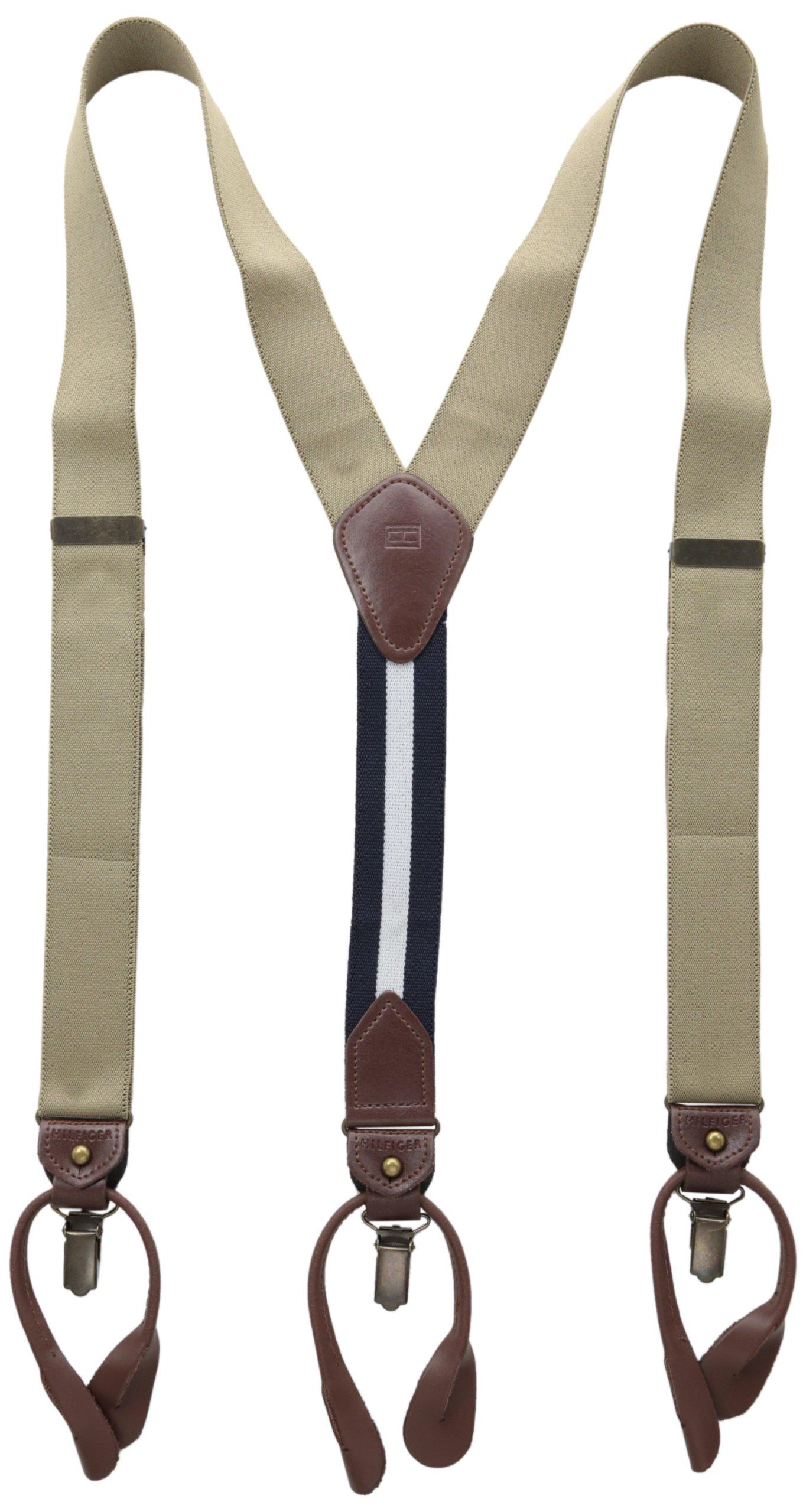 Tommy Hilfiger Men's 32mm Suspenders,Khaki,One Size