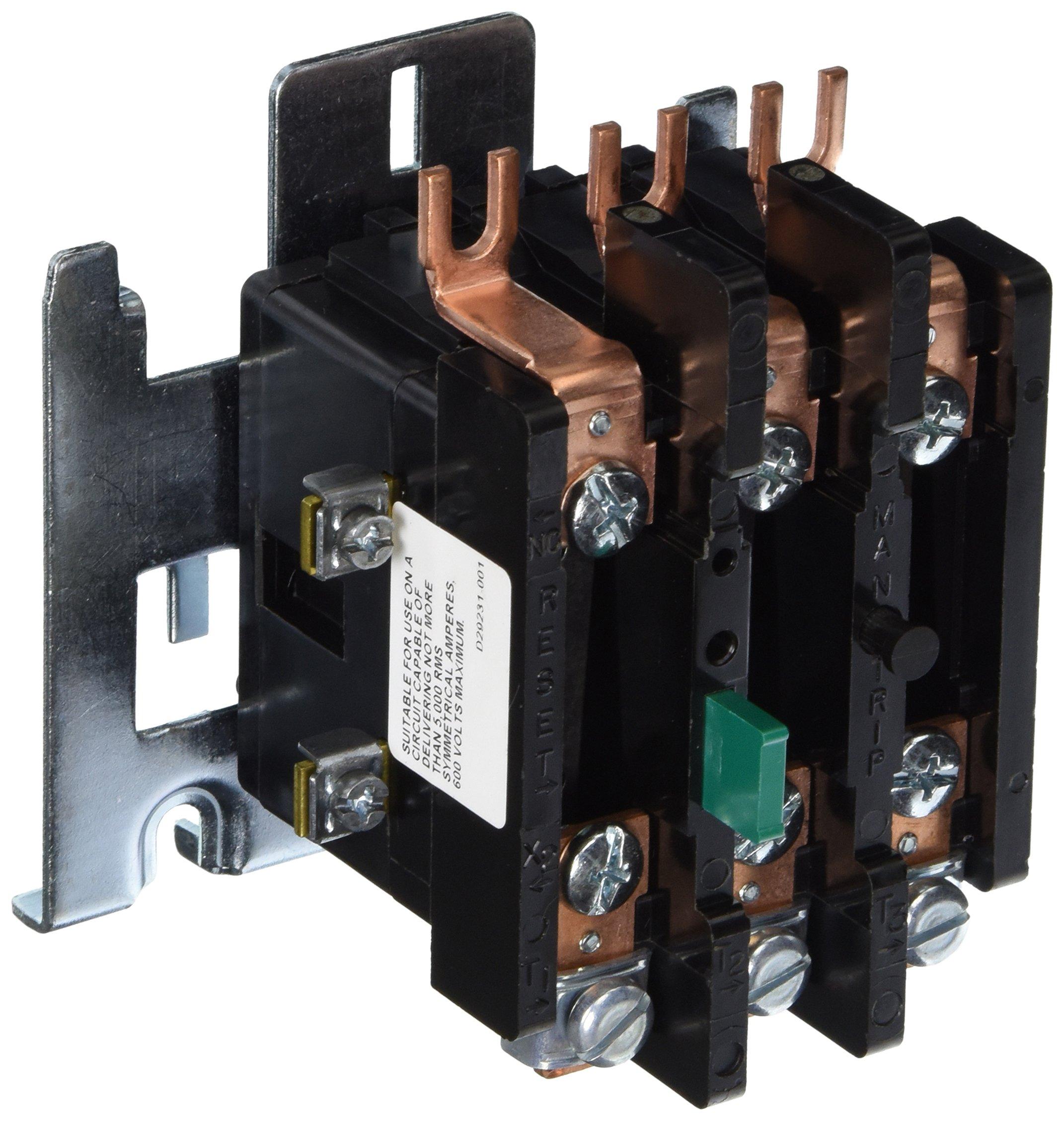 Siemens 48DC38AA3 Overload Relay, 1 NC Ambient Comp Bimetal, 00-1 Size, P Model, 3 Poles