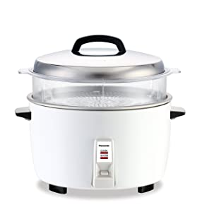 Panasonic SR-GA421SH 23 Cup Commercial Automatic Rice Cooker with Steam Basket, White