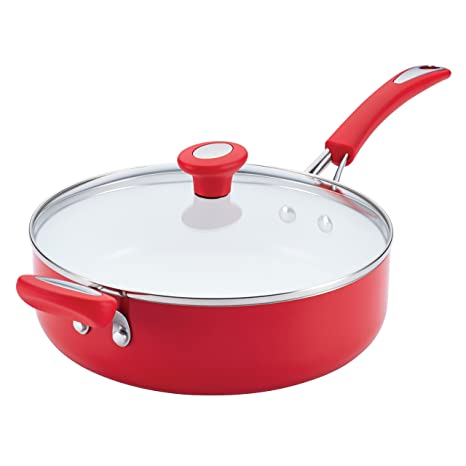 Amazoncom Silverstone Ceramic Nonstick Aluminum Covered Sauté With