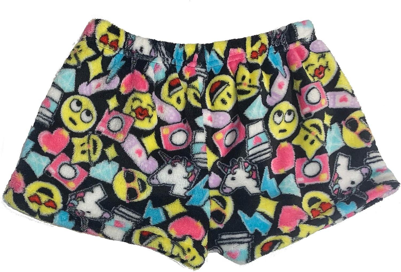 Up Past 8 Girls Plush Pajama Shorts Kids Sizes 2-14