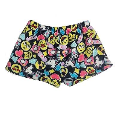 220a157e4556 Amazon.com  Popular Girl s Fuzzy Fleece Plush Pajama Shorts  Clothing