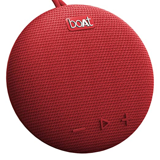 boAt Stone 190 Portable Wireless Speaker with 5W Premium Sound, Bluetooth V5.0, IPX7 Water & Splash Resistance, Lightweight Build, TWS Feature and Carry Strap (Red)