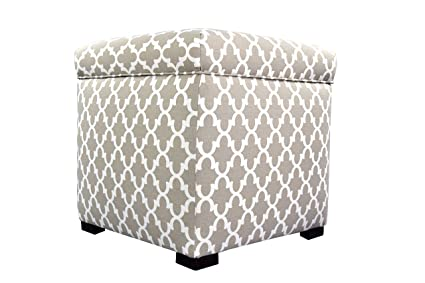 Merveilleux MJL Furniture Designs Tami Collection Fabric Upholstered Lift Top Storage  Foot Rest Cube Ottoman, Fulton