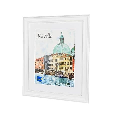 7c2e8ccc477 Kenro Ravello Series White Wood A2   42x59.4cm Photo Frame with White Mat  for 12x18 inch   30x46cm Photo - RL3046W  Amazon.co.uk  Kitchen   Home