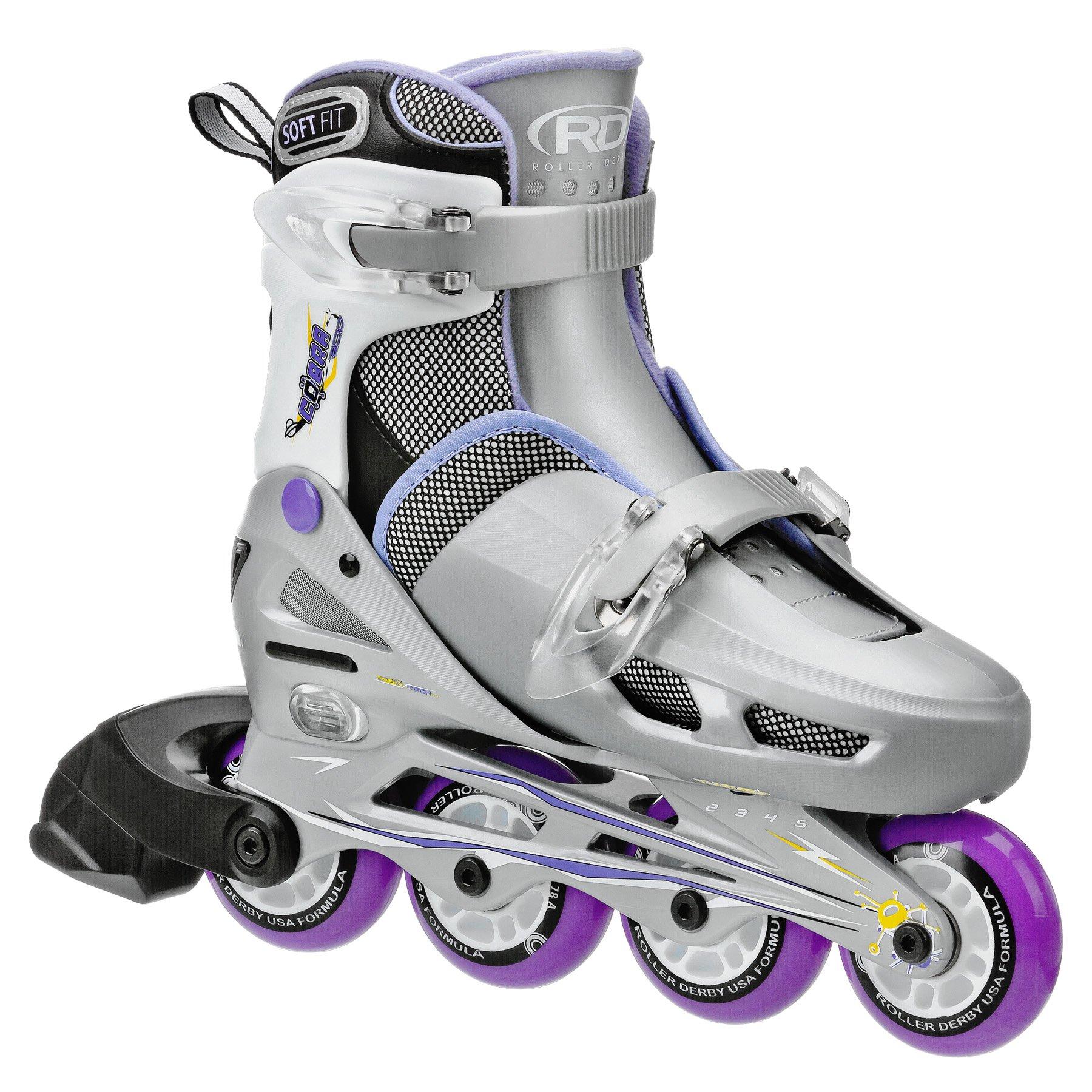 Roller Derby Girls Cobra Adjustable Inline Skate, Small by Roller Derby