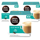 Nescafe Dolce Gusto Flat White Coffee Capsules (48 Capsules, 48 Cups)