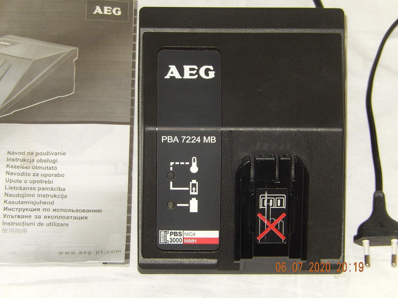 AEG 12 Volt Akku 3Stück und Ladegerät BPA 7224 MB PBS 3000
