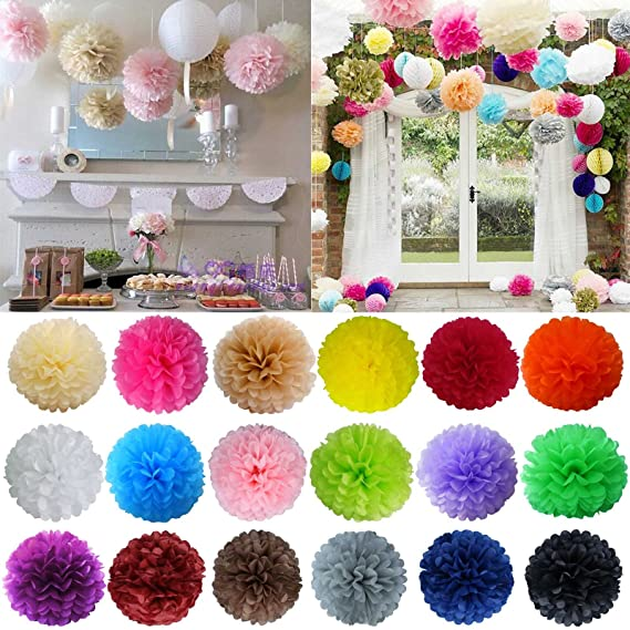 Sevenmye 5 pieces tissue paper pom lantern flower ball diy wedding sevenmye 5 pieces tissue paper pom lantern flower ball diy wedding reception ceremony birthday party outdoor mightylinksfo