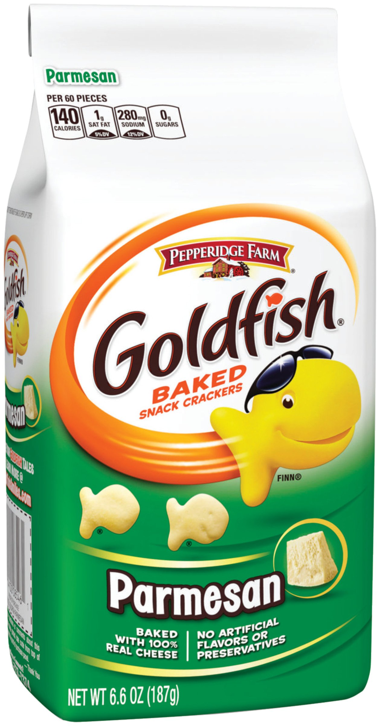 Pepperidge Farm, Goldfish, Crackers, Parmesan, 6.6 oz, Bag, 24-count