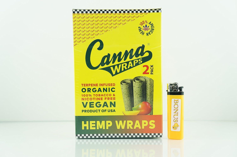Amazon com: Canna Rolling Paper Wraps Mango 1X Box 24