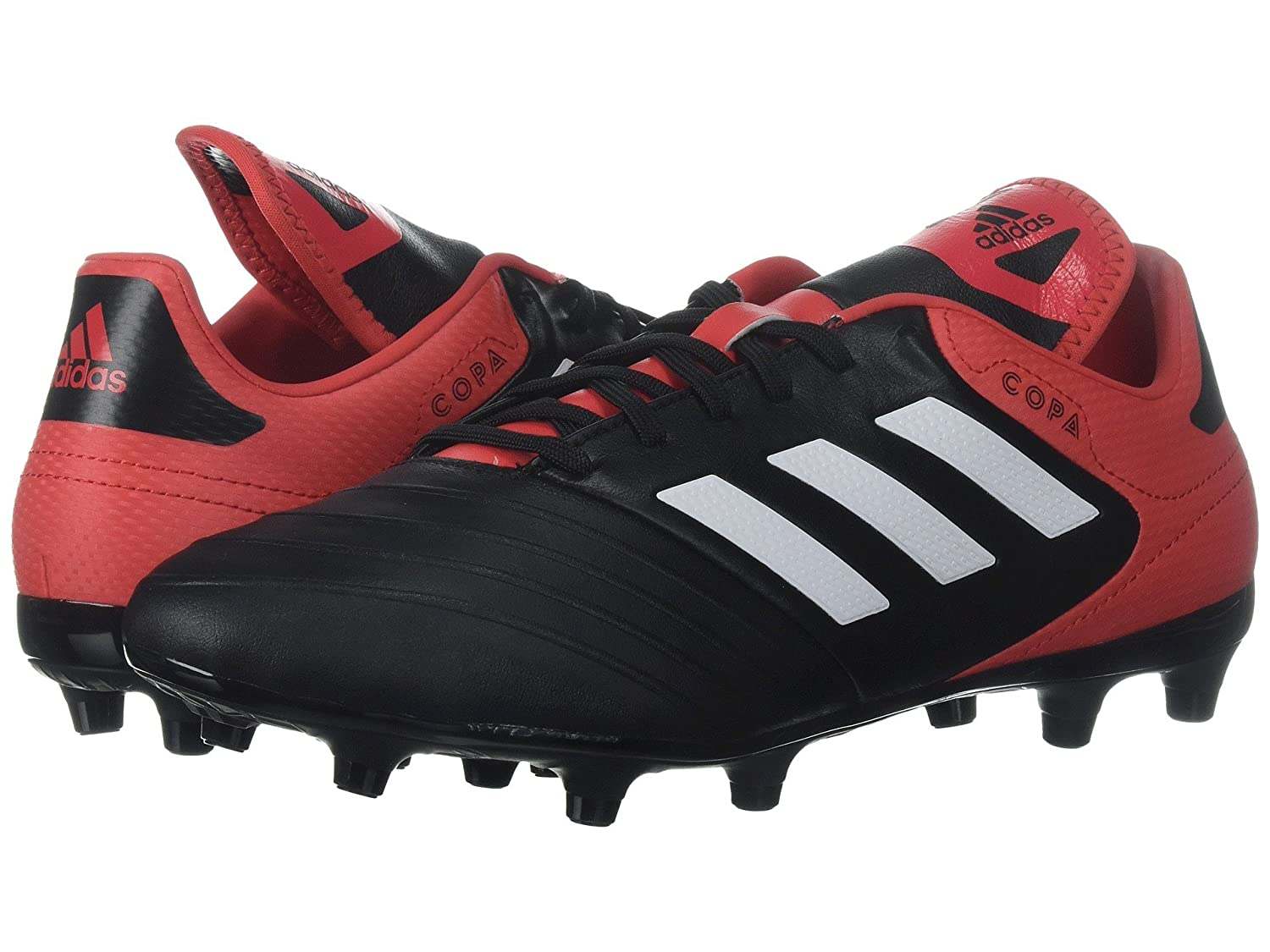 (アディダス) adidas メンズサッカーシューズ靴 Copa 18.3 FG Black/White/Real Coral 13.5 (31.5cm) D Medium B07BQLCM1C