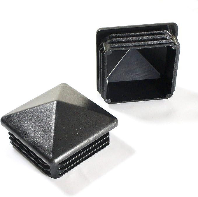 Lot de 40/carr/é de rohrstopfen lamelle Bouchon 20/x 20/mm noir