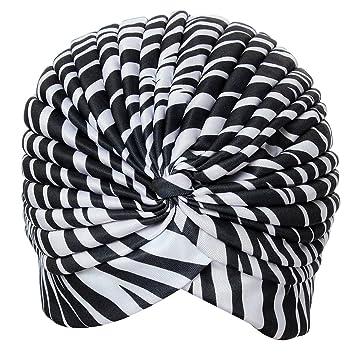 Gaoominy Gorro de Sombrerete de Yoga Turbante Plisado ...