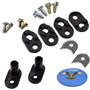 HQRP Door Closer Kit works with Kenmore Sears 4318165 AP3103517 PS358690 WPW10329686 WP2182179 Refrigerator Replacement + Coater