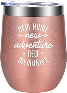 Housewarming Gifts for Women - House Warming Gifts for New Home - Funny New Homeowner Gifts - Unique New House, New Apartment Gifts for Women, Best Friend, Mom, Wife, Her, Sister - GSPY Wine Tumbler