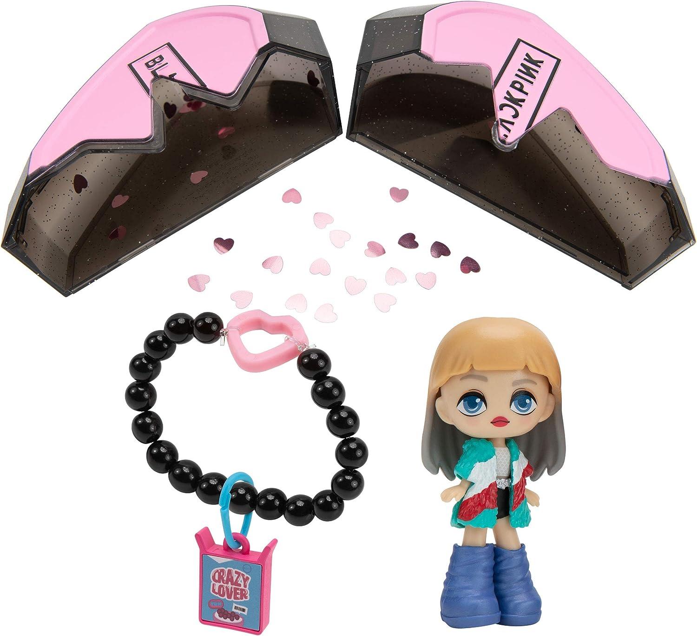"and 1 Charm Including 3 Accessories Bracelet Mystery Box Blackpink BPK0077 Broken Heart Superstars Jisoo or Ros/é K-Pop Idol Doll Jennie Featuring 3/"" Lisa"