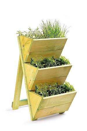 Jardinière en bois de qualité supérieure à 3 niveaux pour planter ou exposer des herbes ou des plantes dans votre cuisine ou dans nimporte quelle pièce de