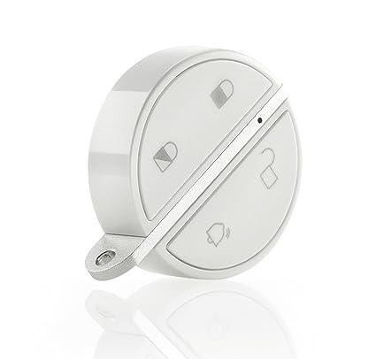 Somfy - Llavero inalámbrico Keyfob, mando bluetooth manos libres para alarma del hogar, blanco