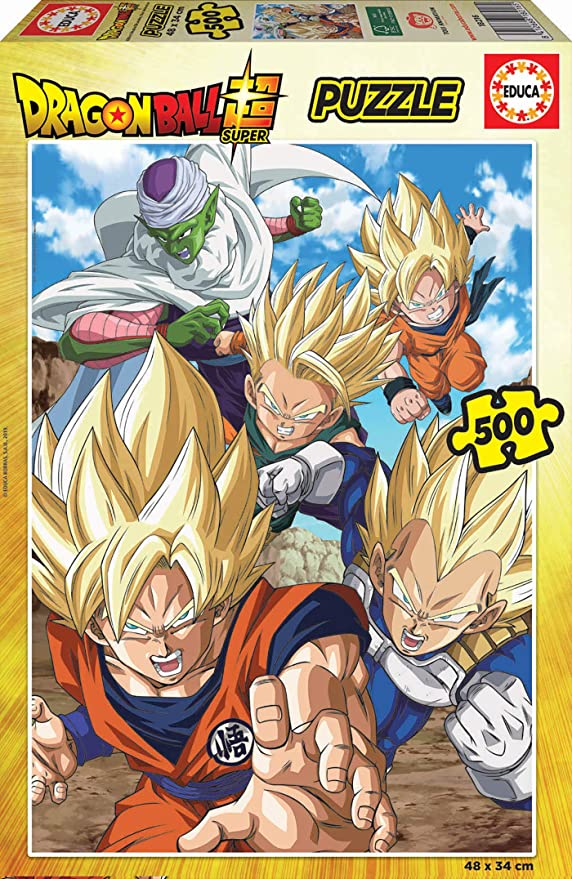 Educa Borras - Serie Dragon Ball Z, Puzzle 500 piezas Dragon Ball Super (18216): Amazon.es: Juguetes y juegos