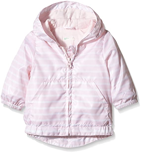 United Colors of Benetton 2SM3530XE, Chaqueta para Bebés, (White/L Pink), 6 Mes: Amazon.es: Ropa y accesorios