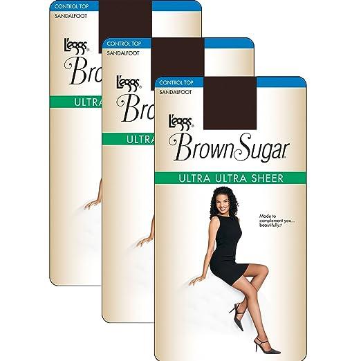 bda48bc1bfc44 L'eggs Women`s Set of 3 L`eggs Brown Sugar Ultra Sheer Control Top ...
